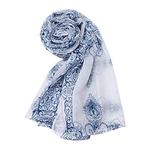 MGHOCS Encantador Bufanda Mujer Dama Estampado Clásico Bufanda Bufandas Pañuelos de Gasa Pañuelos y Pañuelos Foulard Femme Gift, 3
