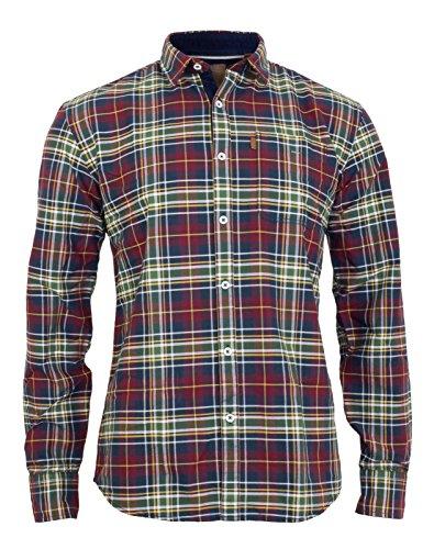 Shine original camicia casual - a quadri - maniche lunghe - uomo rosso rosso