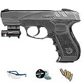PACK Gamo GP20 Combat LÁSER - Pistola de aire comprimido (CO2) y balines de acero (perdigones) cal 4.5mm.