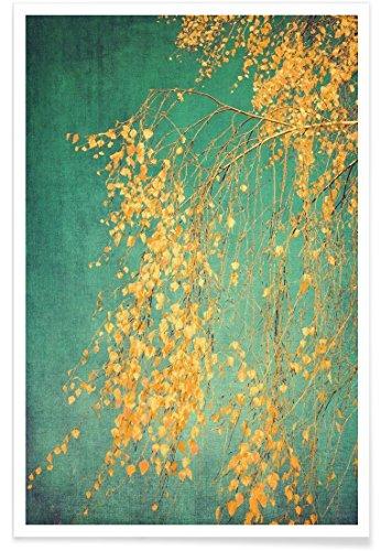 """JUNIQE® Poster 20x30cm Bäume - Design """"Whispers of Yellow"""" (Format: Hoch) - Bilder, Kunstdrucke & Prints von unabhängigen Künstlern - Kunst für's Wohnzimmer & Esszimmer - entworfen von Ingrid Beddoes"""