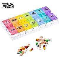 Weekly Pille Box organizer 7Tage Medizin Planer mit Push Button preisvergleich bei billige-tabletten.eu