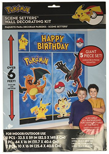 Pokemon Pikachu Scene Setters Wall Decorating Kit Wallpaper-banner