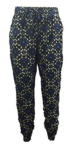 Generic -  Pantaloni  - Donna BLACK/BLUE 6039