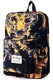 HotStyle Flamme Muster Rucksack 24L - Wasserdichter für Laptop 15 zoll - Orange