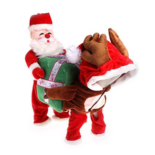 Kostüme Kid Einzigartige (dairyshop Funny Pet Hund Santa Claus Kleidung, Fancy Puppy Apparel Tragetasche Geschenk-Box)