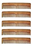 Majik neem Wood Comb (Combo Of 5 Combs) ...