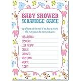 16 x Baby Shower WORD SCRAMBLE Game Cards Boys Girls Babies Favours Keepsake