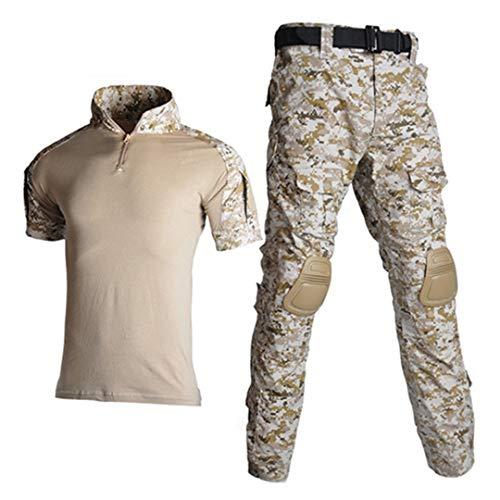 JUNSHIFU Men Tactical Camouflage Uniform Militärische Kleidung Men Army Suits Combat Shorts Desert M -