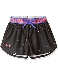 Under Armour Printed Play Up Short Pantalón Corto, Niñas, Negro (004), S