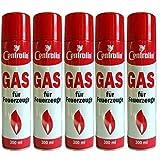 Centralin Feuerzeuggas für alle gängigen Feuerzeuge, (5 x 100ml Dose) UN 1057