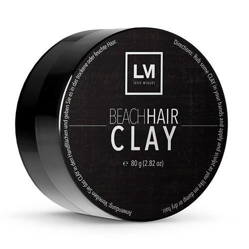 LEON MIGUEL Beach Hair Clay - Premium Modelliermasse mit Matt Effekt | Professionelles Haargel für Frauen und Männer