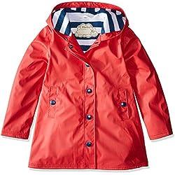 Hatley Splash Jackets Chubasquero Rojo Para Niños 10 Años