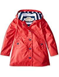 Hatley Splash Jacket-Red (Girls), Impermeable Para Niños