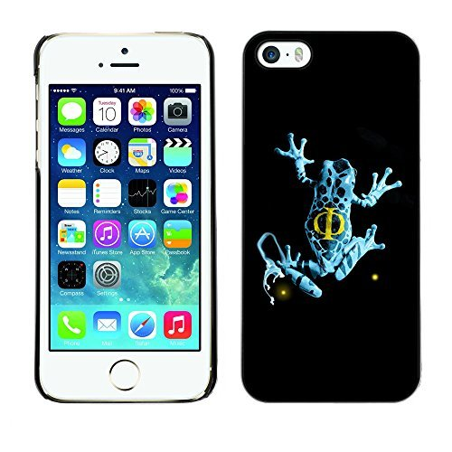 ülle für iPhone 5/5S, Blau Fransen Frosch DIY HD Design PC Hard New Cover ()