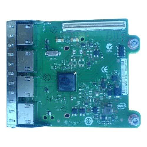 Dell 540-BBHF I350 QP Netzwerkadapter-Set für Tochterkarte, 1 GB, für PowerEdge-R620, Schwarz -