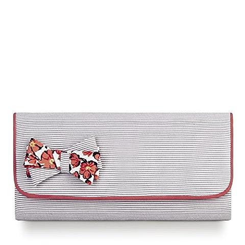 Ruby Shoo Barcelona Stripe Coral Clutch