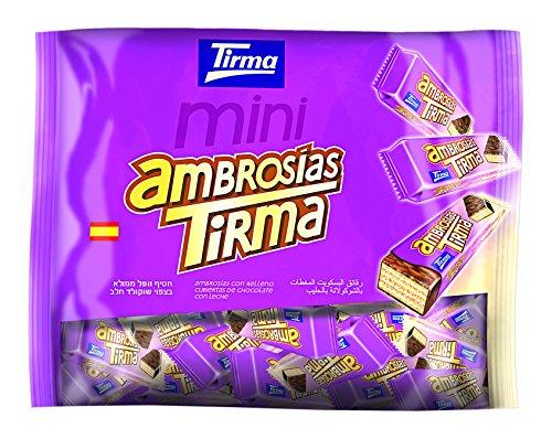 Tirma Ambrosías con Relleno Cubiertas de Chocolate con Leche - 3 Paquetes de 40 Barritas