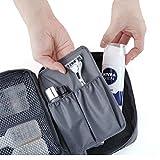 Contever moda Donna Borsa da Viaggio Sacchetto della lavata Pacchetto multifunzionale bagagli Trucco Cosmetici Organizer Tasca -- Grigio