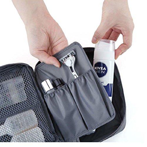 Contever® Trousse de toilette Sac de Rangement / Stockage / Organisateur de cosmétiques / maquillage pour Voyage (Gris)