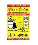 #8: Clean India - Garbage Bags - 19X21 | 3 Packs of 30 Pcs - 90 Pcs | Black Medium Disposable Dustbin Bags