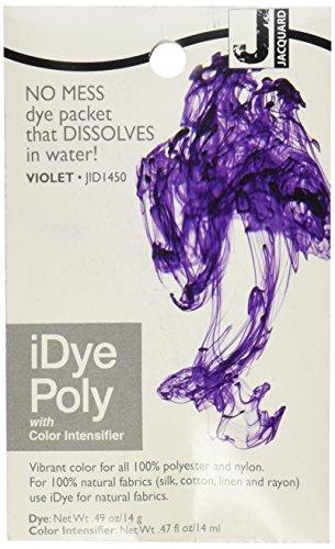 Ioni jacquard Poly tessuto tintura 14 grammi-viola 450
