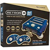 Hyperkin RetroN 3 Video Game System for NES/SNES/GENESIS Console 2.4Ghz Edition - Bravo Blue by Hyperkin