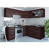 JUSThome Lidia L L-Küche Küchenzeile Küchenblock 190x170 cm Farbe: Eiche