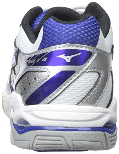 Mizuno Wave Bolt 4 Synthétique Baskets White-Blue-Silver