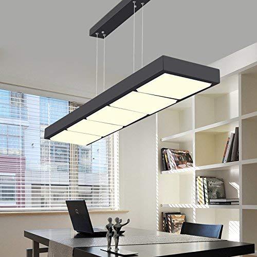Neue einfache Moderne geführte Restaurant-Leuchter/Kunst-Studien-Lichter/Büro bearbeitet rechteckige Stab Lichter, Schwarze sechs 54w