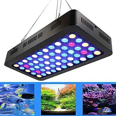 Cacoffay Réservoir de Poissons d'aquarium 165W LED Dimmable Spectre Complet Aquarium Fish Reef Light Décoration pour Poissons d'eau Douce d'eau de mer Récif de Corail