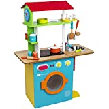 ItsImagical - Fresh Farm Dual Kitchen, cocinita de madera doble cara con accesorios (Imaginarium 87683)