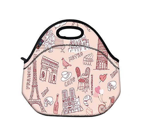 pink-romantic-girls-boys-lunch-box-tote-pouch-cooler-bag-insulated-lunchbox-holder-w-handle-by-profe