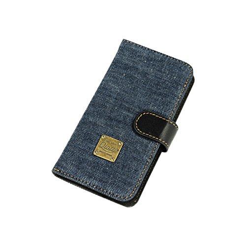 QIOTTI QP-B-0110-07-IP5S Q.Book Denim Premium Echtleder 2-in-1 Abnehmbare Schutzhülle für Apple iPhone 5/5S Booklet blau