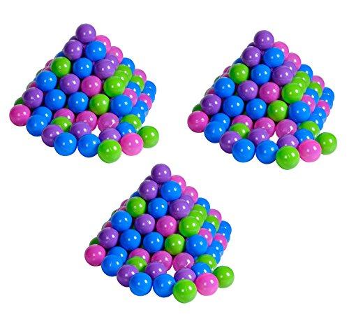 Knorrtoys 56791 - Bälleset - 300 Stück Plastikbälle / Bälle für Bällebad, 6 cm Durchmesser, pastell, ohne gefährliche Weichmacher
