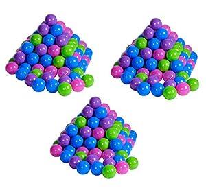 Knorrtoys 56791-Juego de Pelotas para-300Unidades Pelotas de raquetball/Pelotas de plástico para baño, 6cm de diámetro, Pastel, sin plastificantes peligrosas