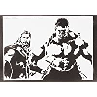 Hulk Und Thor The Avengers Handmade Street Art - Artwork - Poster