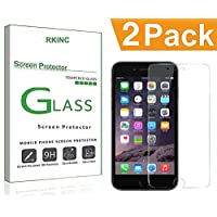 RKINC for Apple Iphone 6 6S Screen Protector, [2 Pack] Crystal Clear Tempered Glass Screen Protector [9H Hardness][2.5D Edge][0.33mm Thickness][Scratch Resist] for Apple Iphone 6 6S