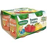 Blédina petits pots pomme fraise 4x130g dès 6 mois - ( Prix Unitaire ) - Envoi Rapide Et Soignée