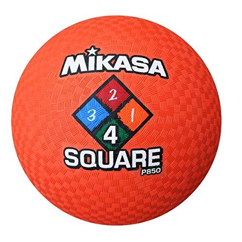 Mikasa Uni P850Four Square Model dodeg pueblos pelota de combustión Ball, Naranja, 3