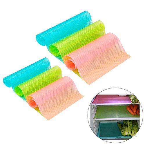 kakoo-6-pcs-refrigerator-mats-kitchen-vegetables-fruits-fresh-pads-fridge-antifouling-mildew-waterpr