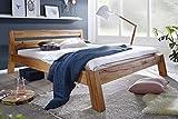 Main Möbel Bett Holz massiv Eiche 'Mike' 180x200cm Wildeiche geölt