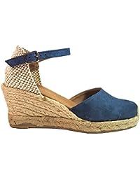 da4529e1 La Valenciana Cuña de Esparto para Chica Paseart LG5/T01 Color Azul Jeans  Cierre EN