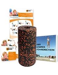 blackroll Orange (Das Original) - Die Selbstmassagerolle - Bundle Standard (inkl. Übungs-DVD und Übungs-Poster, Buch Der Körperführerschein)