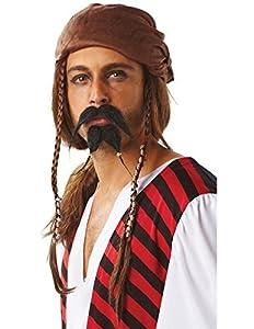 Rubies Official Bigote y Perilla para Disfraz de Pirata, Disfraz para Adultos, Talla única