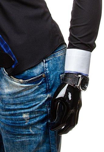 BOLF – Chemise casual – avec manches longues – BOLF 5766 – Homme Noir