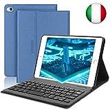 SENGBIRCH Nuova iPad Mini 5 Custodia per Tastiera, Cover Intelligente per Supporto Cavalletto Magnetico con Tastiera Bluetooth Rimovibile per iPad Mini 5 7.9 Pollici-iPad Mini 4/3/2/1, Blue