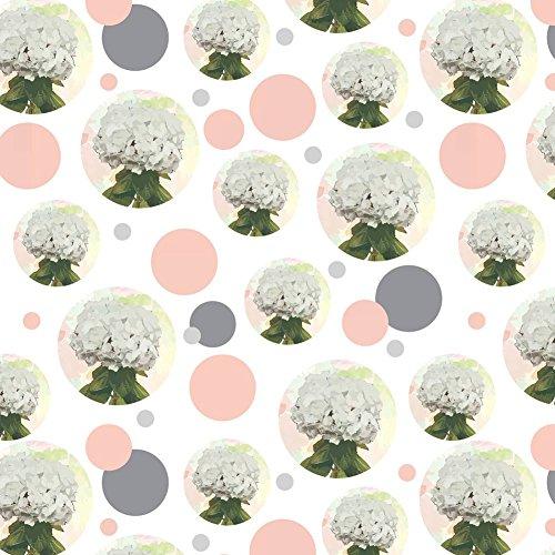 Premium Geschenkpapier, Rolle Muster–Blumen Hydrangea Watercolor (Hydrangea Muster)