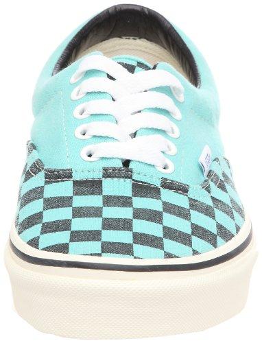 Vans U Era VQFK62D, Unisex - Erwachsene Sneaker Washed Checker (Pool Blue)