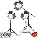 PIXAPRO® VNIX1500B Three Head Boom Kit Bi-Colour Tungsten Video Film Interview Light Dimmable LED Panel DMX Output *2 Year UK Warranty *Fast Delivery *UK Stock *VAT Registered … (Three Head Boom Kit, VNIX1500B)