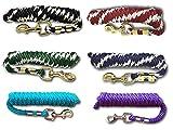 Führstrick für Pferd - Anbindestrick in verschiedenen stylischen Designs, Führleine, Anbindeseil Pony, Esel, Ziege (Schwarz)